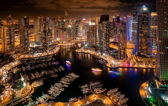 Night-View-of-Dubai-Marina